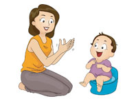 toilet training by babysitter at home