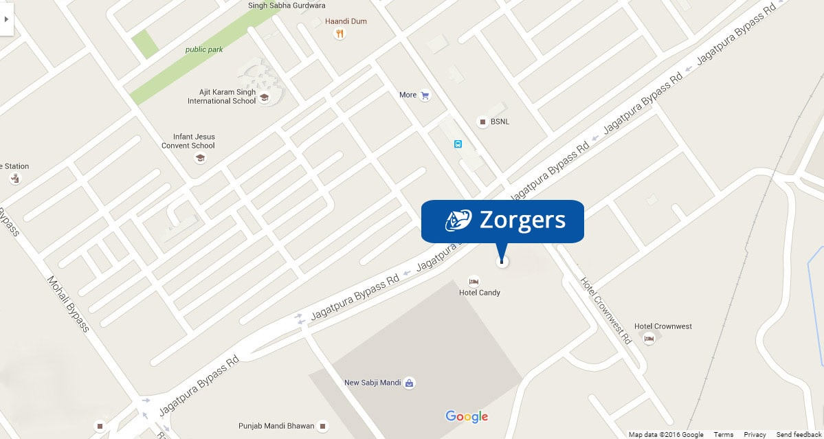 Zorgers Address on Map